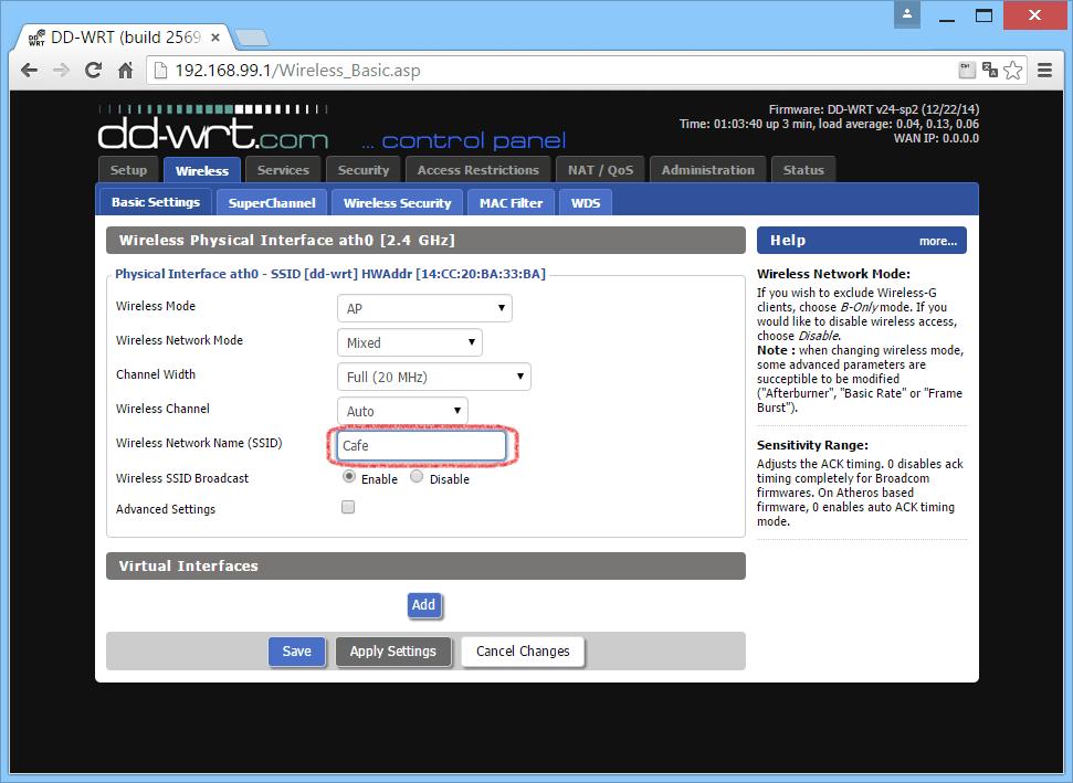 Настройка маршрутизаторов на основе DD-WRT